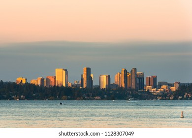 Skyline of downtown Bellevue, Seattle Metropolitan area, Washington State, USA