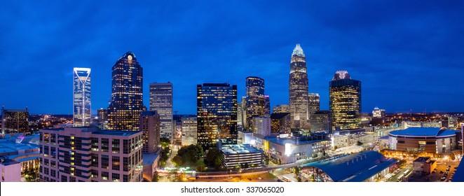 Skyline of downtown Charlotte in north carolina, USA