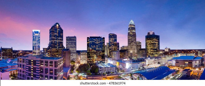 Skyline of downtown Charlotte in north carolina, USA