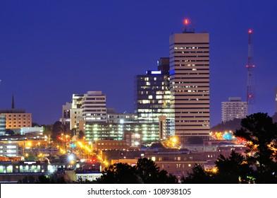 Skyline of downtown Columbia, South Carolina.