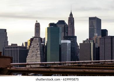 Skyline of downtown Manhattan