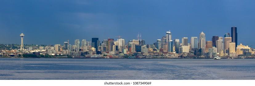 Skyline of downtown Seattle, Washington