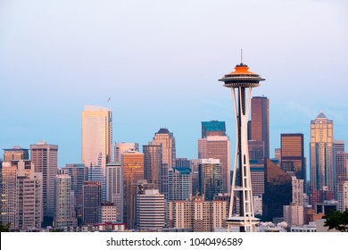 Skyline of  downtown Seattle, Washington State