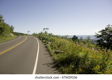 Skyline drive in Duluth Minnesota in the Summer.