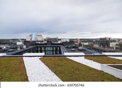 Skyline of the Dublin Docklands, Ireland