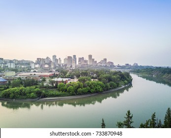 Skyline of Edmonton downtown, Alberta, Canada