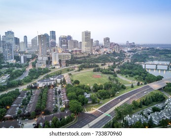 Skyline of Edmonton downtown, Alberta, Canada
