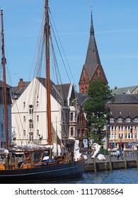 skyline flensburg, northside of port