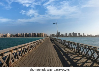 Skyline of Fortaleza from the pier. Ceara State, Brazil