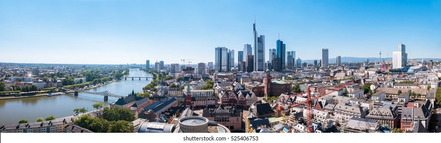 Skyline of Frankfurt Panorama, Germany, the financial center of the country