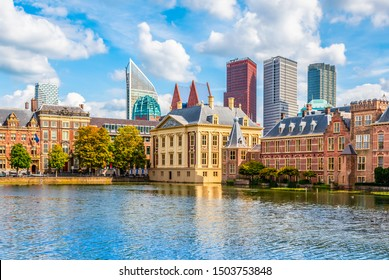 Skyline of the Hague, the Netherlands.