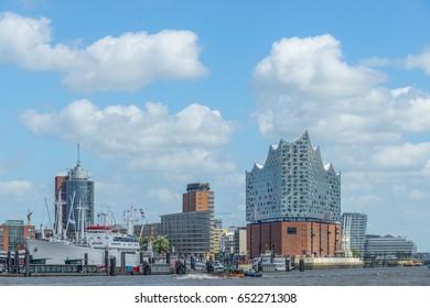 Skyline of Hamburg with Elbphilharmonie