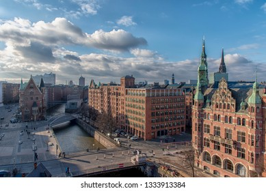 The Skyline from Hamburg and the old Harbor city
