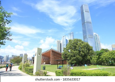 The Skyline of Kowloon as seen from West Kowloon Cultural District, Hong Kong
