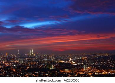 The skyline of Kuala Lumpur
