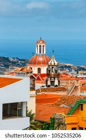 skyline of La Orotava town, Tenerife Island, Spain