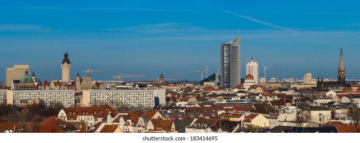 Skyline of Leipzig, Saxony, Germany