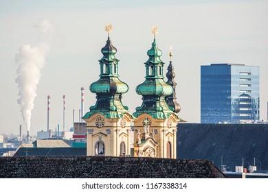 Skyline of Linz (Austria)