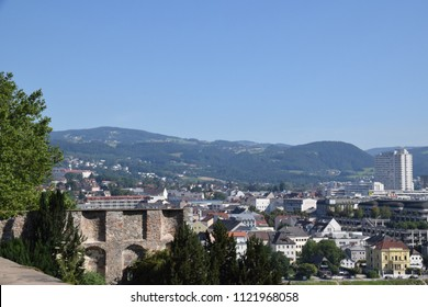 Skyline of Linz - view from the Roemerberg