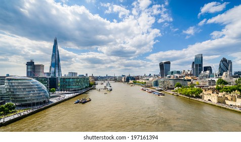 Skyline of London, UK