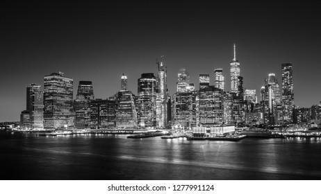 Skyline of lower Manhattan, New York