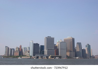 Skyline of Lower Manhattan seen from Governors island