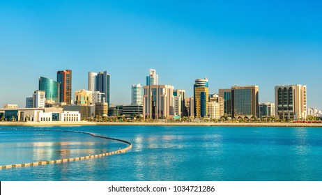 Skyline of Manama Central Business District. The capital of Bahrain