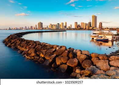 Skyline of Manila City and Manila Bay