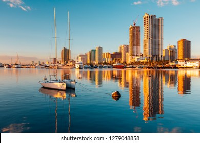 Skyline of Manila City and Manila Bay