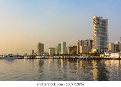 Skyline of Manila, Luzon island, Philippines