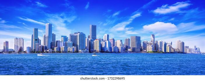 the skyline of miami, florida