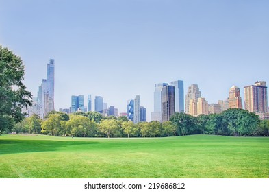 Skyline of Midtown Manhattan, a view from the Central Park, New York