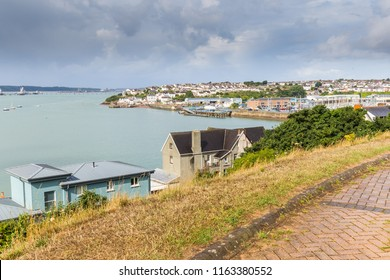 Skyline of Milford Haven in Pembrokeshire, in Wales, UK