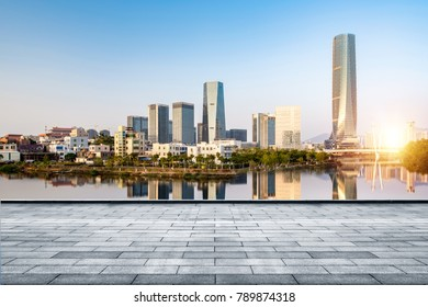 The skyline of the modern city of Xiamen and the urban landscape