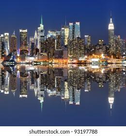 Skyline of New York city from across the Hudson River