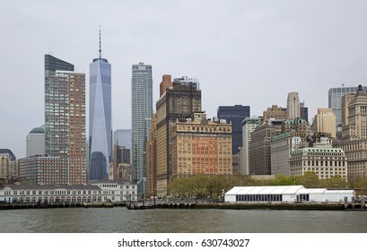 Skyline of New York city taken from the river