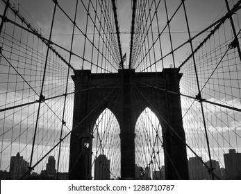 Skyline of New York - Manhattan Bridge