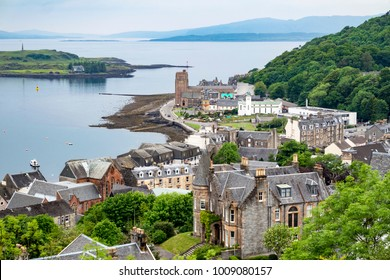 The skyline of Oban, Argyll in Scotland - United Kingdom