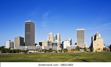 Skyline of Oklahoma City, Oklahoma.