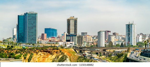 Skyline of Oran, a major city in Algeria, North Africa