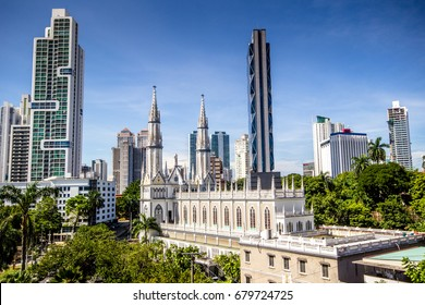 The skyline in Panama City, Panama