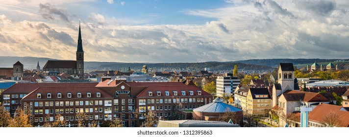 Skyline panorama of Hildesheim, Germany