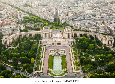 Skyline of Paris, France, view from the Eiffel Tower