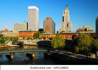 The skyline of Providence Rhode Island