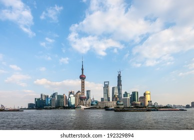 Skyline of Pudong district in Shanghai