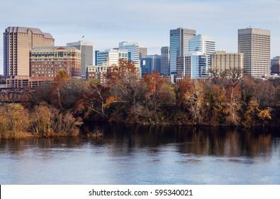 Skyline of Richmond. Richmond, Virginia, USA.