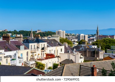 Skyline of Saint Helier, Jersey, Channel Islands, UK