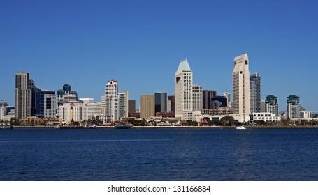 Skyline of San Diego, California