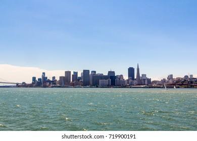 Skyline of San Francisco, USA.