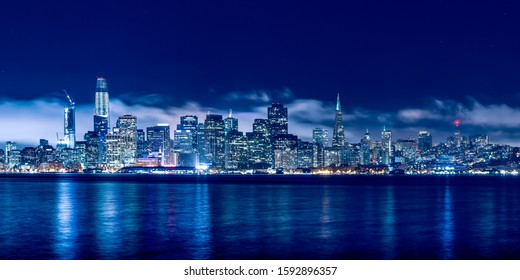Skyline of San Francisco USA at night